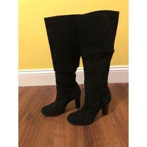Banana Republic Heeled Knee High Suede Boots